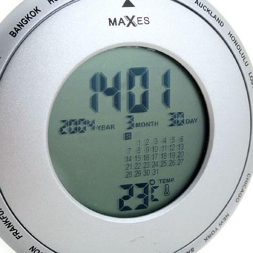 maxes 탁상용 원형 월드타임시계