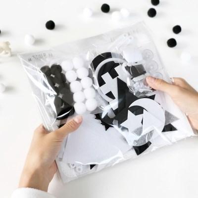 코니테일 흑백 초점 모빌 DIY 키트 (흑백모빌.신생아모빌)