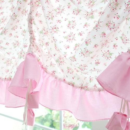 핑크 플라워 오완식커튼 ( 270 x 170 )