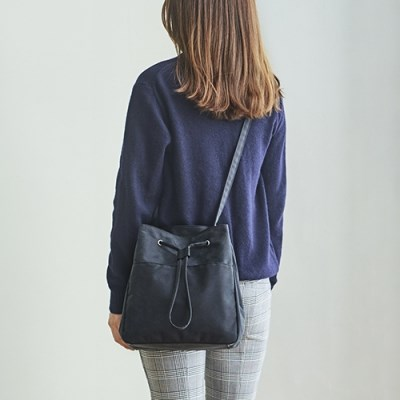 SQUARE BUCKET BAG _ ASH