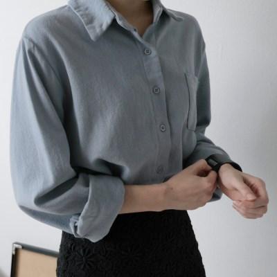 윈터 파스텔 셔츠 (4-COLORS)
