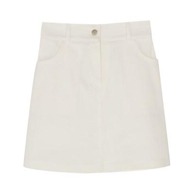 minimal line banding skirt
