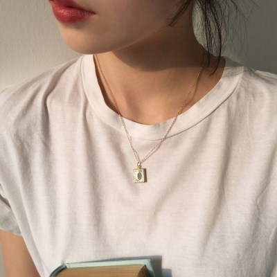book locket necklace (2colors)