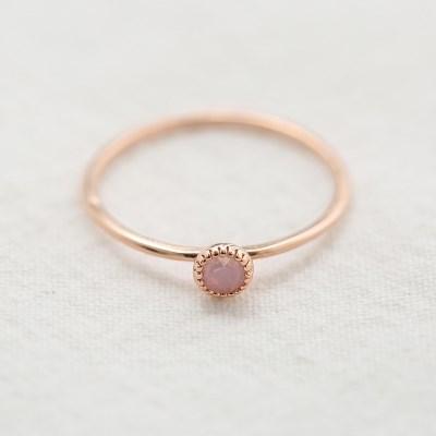핑크 로즈골드 반지