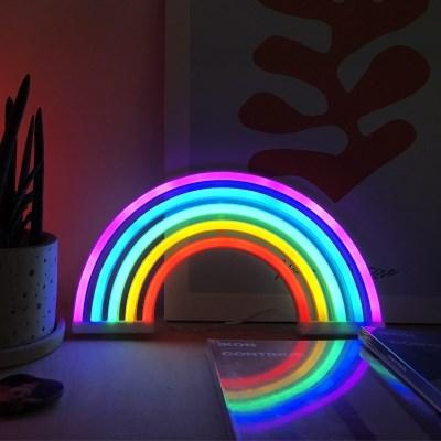 LED 무지개 네온사인 무드등