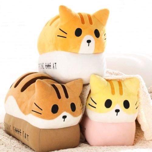 포근한 고양이식빵 인형 - cheese