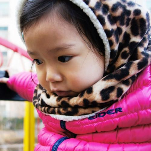 [아동용] 절로 신나는 곰돌이 후드넥워머_Leopard