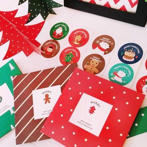 크리스마스 데코스티커 6개세트 (3가지디자인)