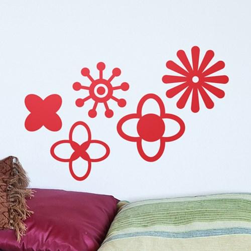 북유럽소품 세트-06 (꽃,플라워) / 그래픽스티커