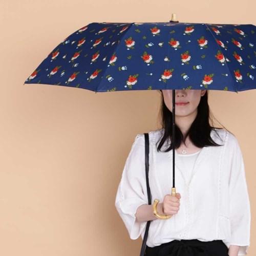 Olivia Flora 패턴 2단 수동 우산