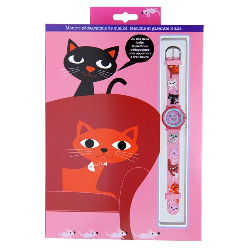 [Babywatch] 손목시계 - ZAP Cats(분홍고양이)