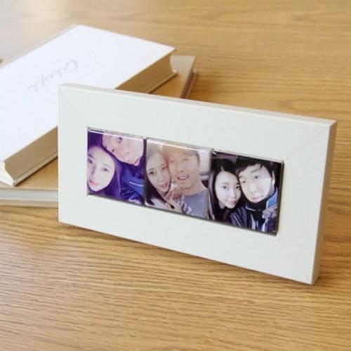 셀카액자♥3구 미니타일 커플,가족,친구 기념일 선물