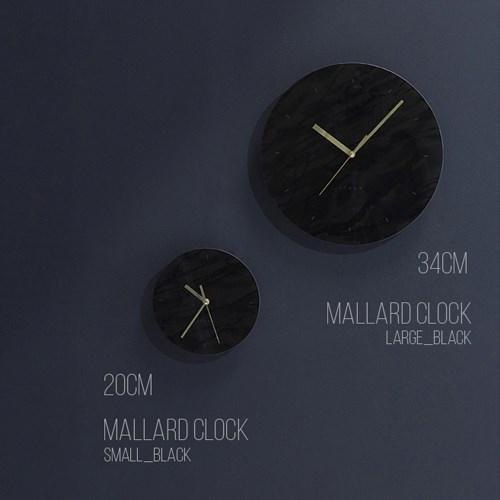 말라드 벽시계 라지_블랙