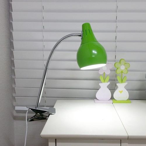 [LAMPDA] 스프링 LED 집게 스탠드 (그린)