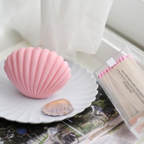 조개캔들 x 투명성냥 SET - light pink