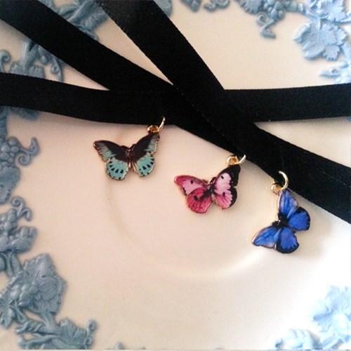 [우아한 공방] 사뿐히 날아든 나비 초커(5colors)
