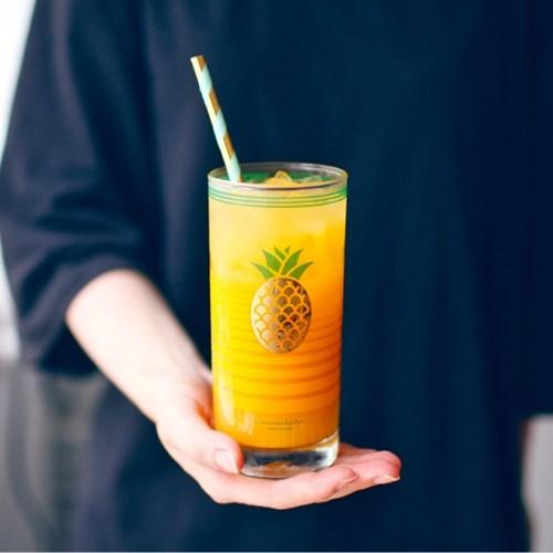 커먼키친 Retro Gold fineapple glass