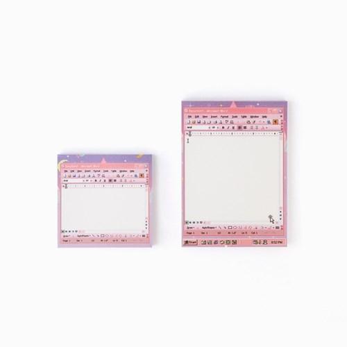 word pink memo pad_S