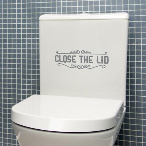 뚜껑을 닫아주세요 화장실 스티커