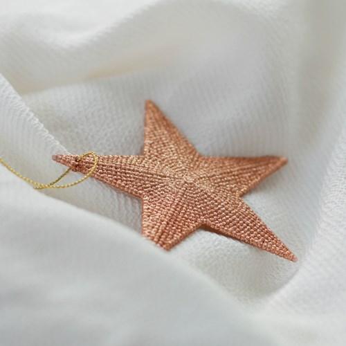 로즈골드 별 오너먼트_(419736)