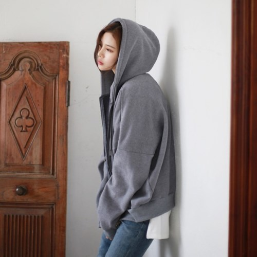 [MONDAY STUDIO] Daily vete napping hood zip-up