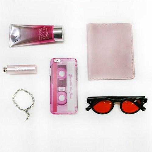 Vintage mood tape_Pink 빈티지 테이프 핑크 투명 젤리 케이스