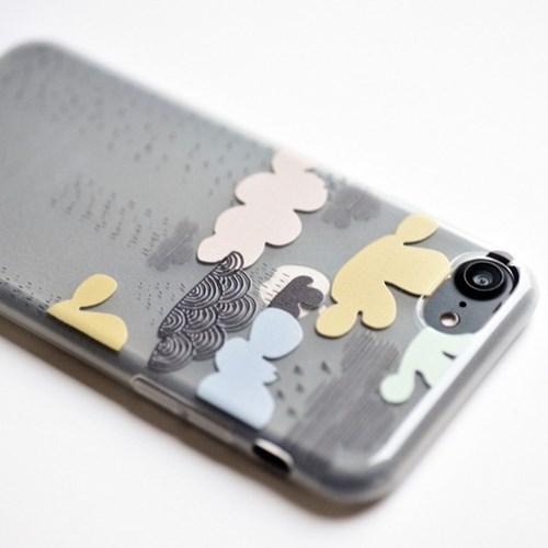 [아이폰6/6S, 6+/6S+, 7/7+, 8/8+] 비를 내리는 구름 TPU 케이스