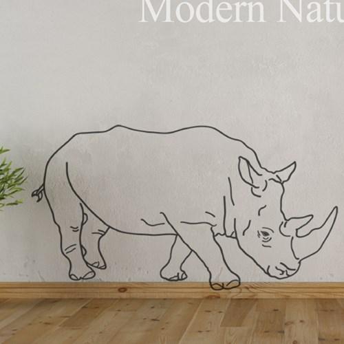 동물 월데코-코뿔소