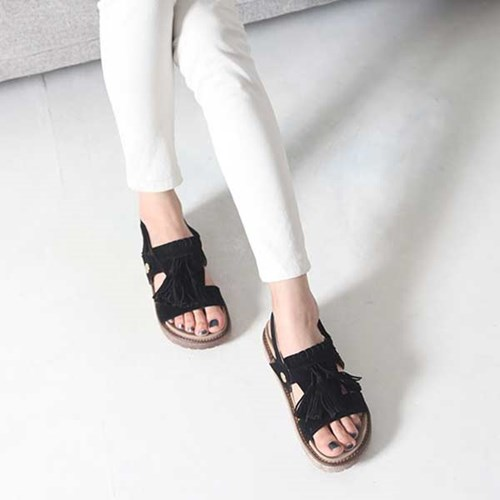 kami et muse 4cm tall up tessle velcro sandals_KM17s150