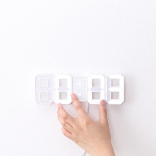 LED 무소음 듀얼컬러 시계