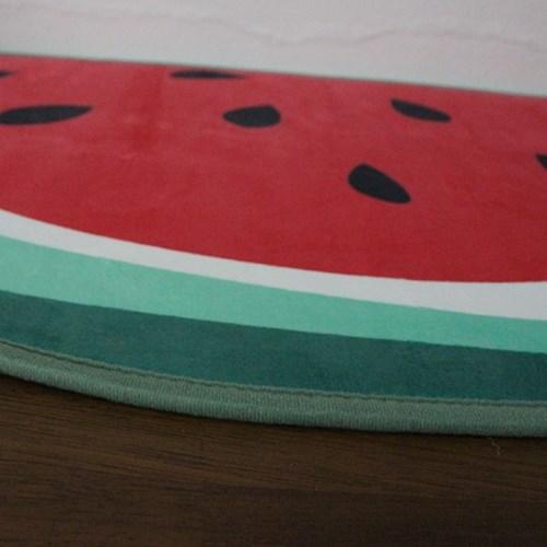 수박 반달 발 주방매트