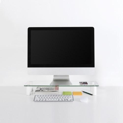 무아스 높이조절 강화유리 모니터 받침대 / Monitor Stand