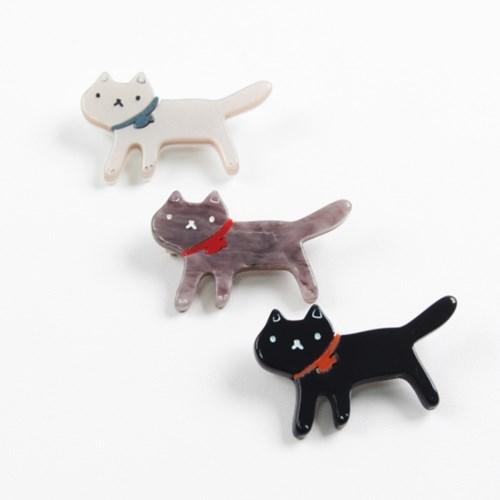 [엔비로라]아크릴 브로치 - 검은 고양이 네로 NBP7023