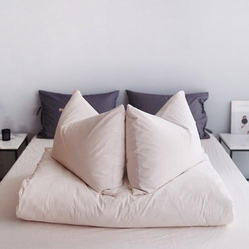 에스타도 천연염색 호텔베딩(60수) - 베이지 (싱글/슈퍼싱글)