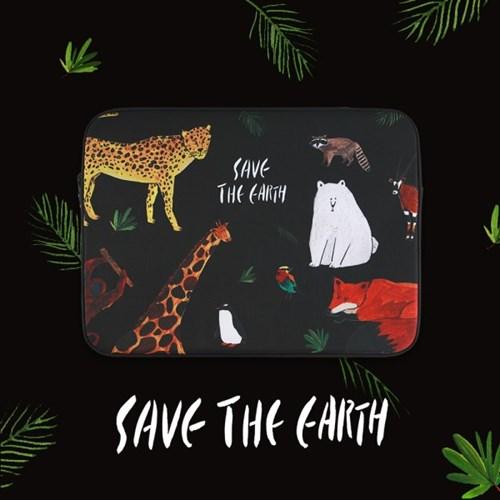 Save the earth_Black (아이패드/11/13/15인치) 노트북파우치