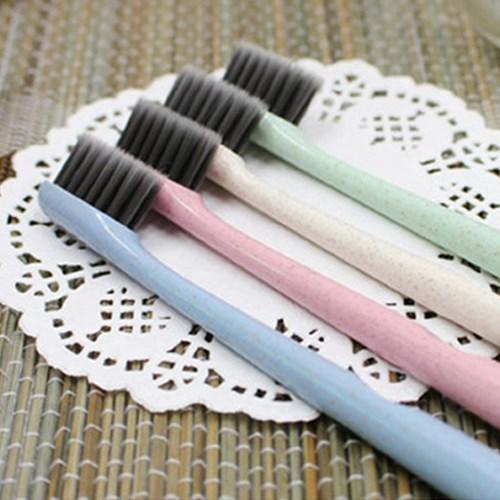 에바 심플 디자인 칫솔 - 핑크