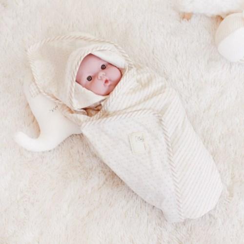 [쏘잉앤맘] 오가닉 도트 배냇저고리 5종 세트 신생아용품 출산선물