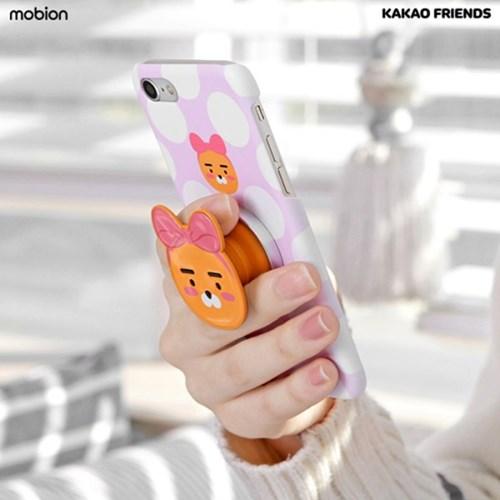 카카오프렌즈 얼굴형 스마트 그립톡 슬림 휴대폰 거치대