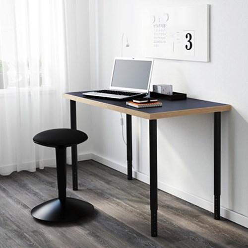 이케아 LINNMON 테이블(120X60)+OLOV 길이조절다리