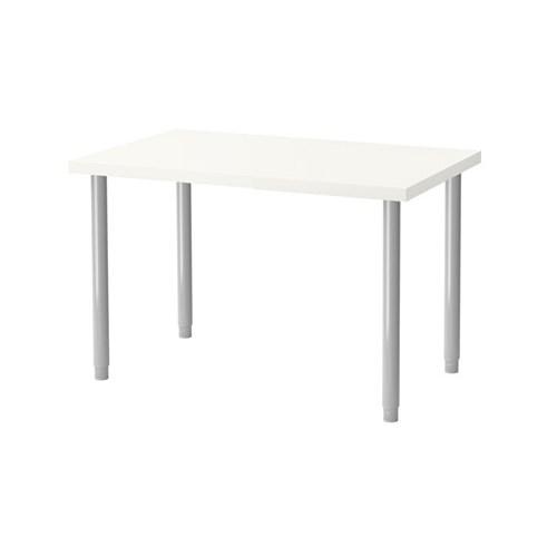 이케아 LINNMON 테이블 (100X60/화이트)+OLOV 길이조절다리