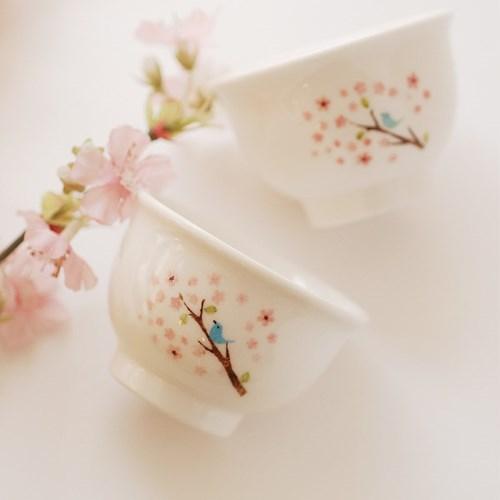 술잔(나팔)_꽃과새