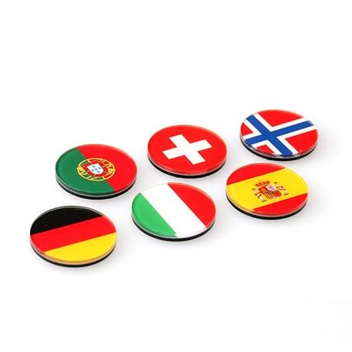 세계 국기 자석(원형)