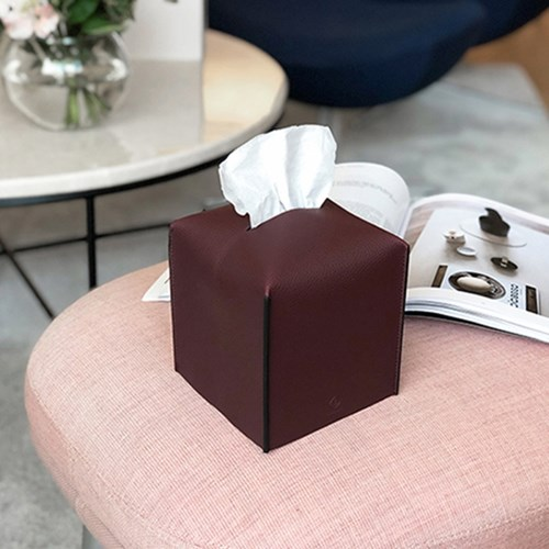 Edge leather Tissue Cover-S