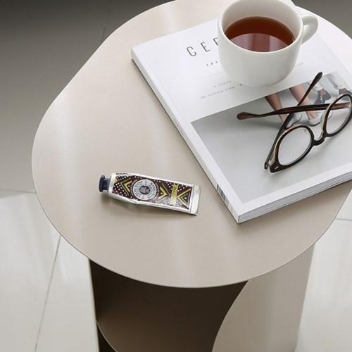 커브사이드테이블 curve side table_champagne gold