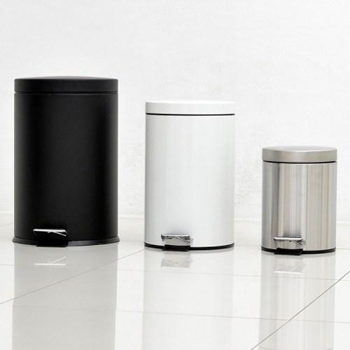 [특가]유럽형 무소음 컬러 페달휴지통 5L/종량제10L/20L