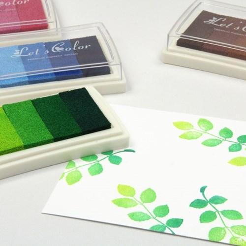 렛츠컬러 4색 그라데이션 잉크패드 – 6종