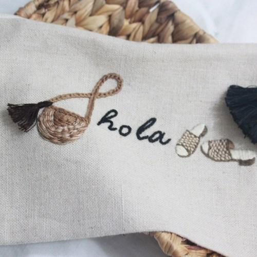 (강남) 여름 라탄가방과 슬리퍼자수 파우치