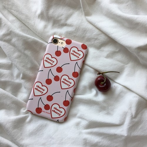 [뮤즈무드] cherry cherry 아이폰케이스