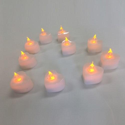 LED하트전기초(24개입)색상선택가능