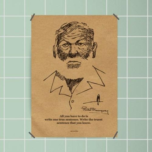 유니크 크라프트 인테리어 디자인 포스터 M 문학8종 모음